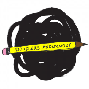 doodlers anonymous round logo
